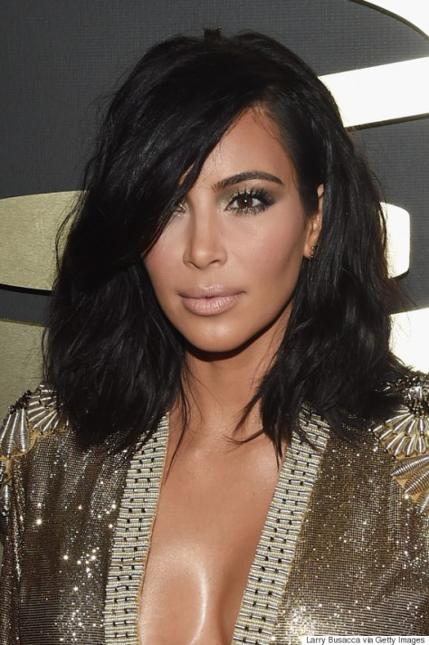 LOS ANGELES, CA - FEBRUARY 08:  TV Personality Kim Kardashian attends The 57th Annual GRAMMY Awards at the STAPLES Center on February 8, 2015 in Los Angeles, California.  (Photo by Larry Busacca/Getty Images for NARAS)